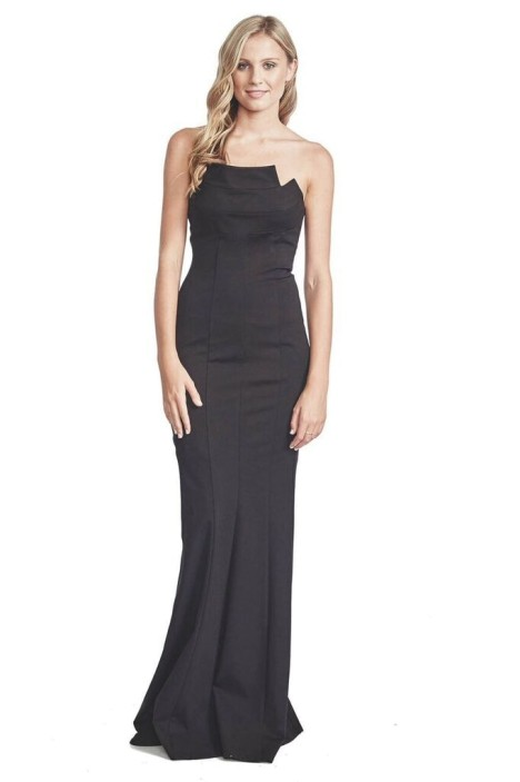 George - Gael Gown - Black - Front