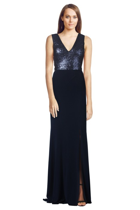 George - Jacqueline Gown Navy - Front