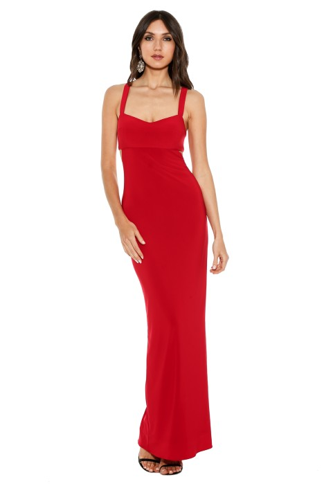 George - Jamelia Gown Red - Front