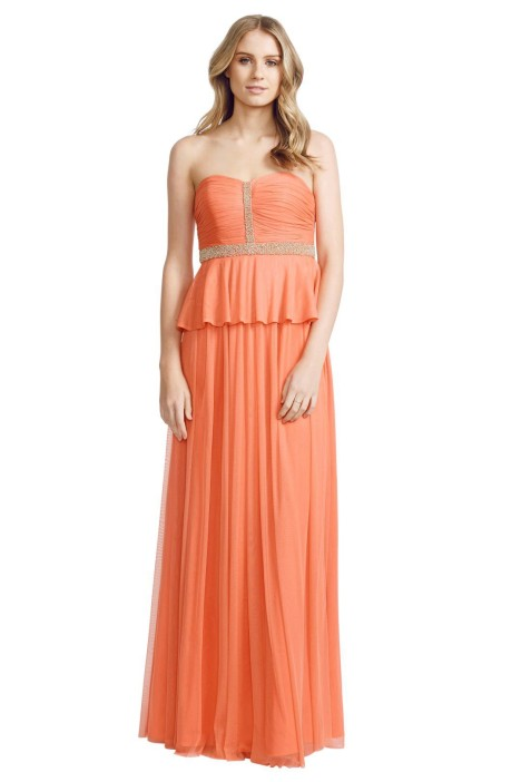 George - Kendra Gown - Orange - Front