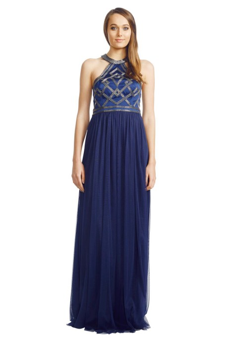 George - Kylie Gown - Front - Blue