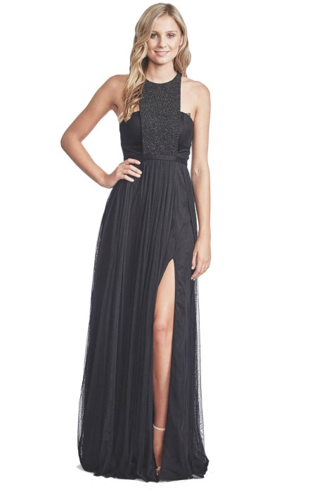 George - Morgan Gown - Front - Black