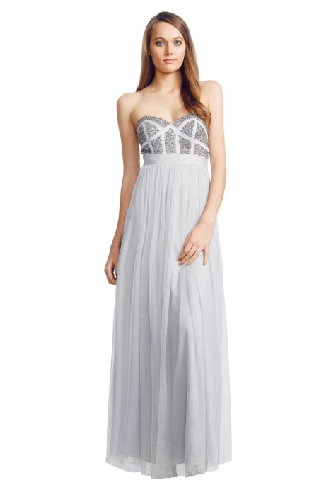 George - Pixel Gown - Silver - Front