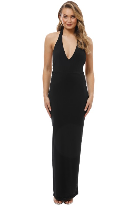 George - Pricilla Gown - Black - Front