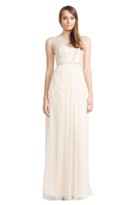 George - Rachida Gown - Cream - Front