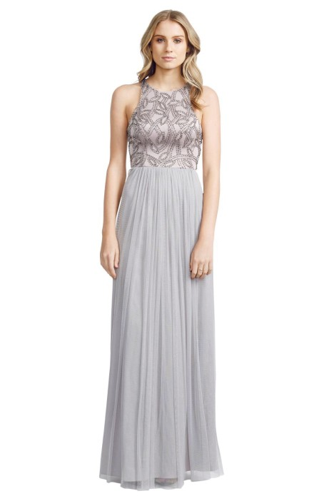 George - Sofia Gown - Grey - Front