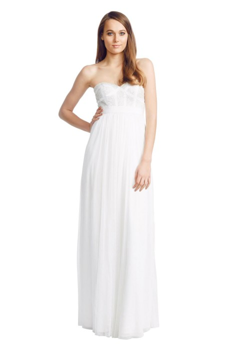 George - White Pixel Gown - Front