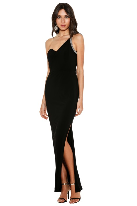 George - Xanthia Gown - Front - Black