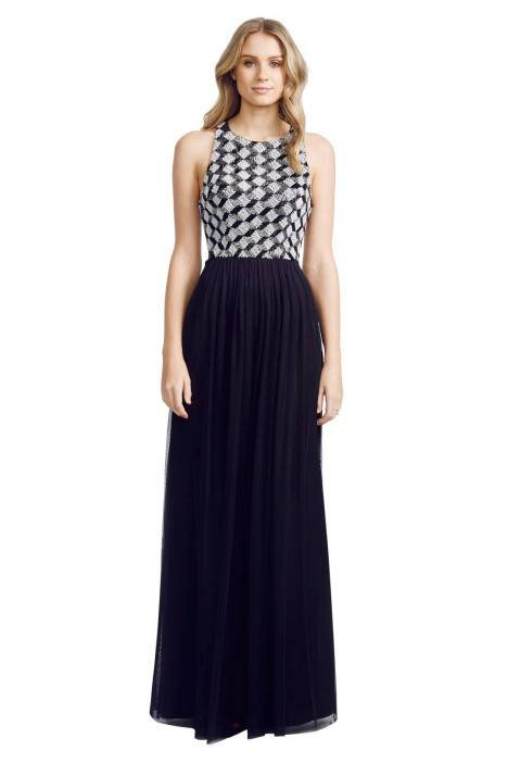 George - Zackery Gown - Black - Front