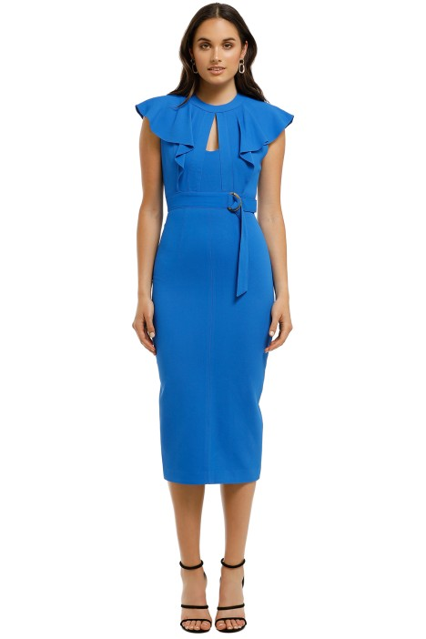 Ginger-and-Smart-Epiphany-Fitted-Dress-Klein-Blue-Front