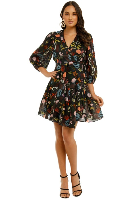 Ginger-and-Smart-Synchronize-Wrap-Dress-Synchronize-Print-Front