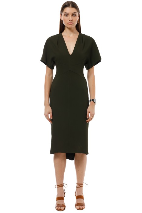 Ginger and Smart - Endure Fitted Dress - Olive - Front