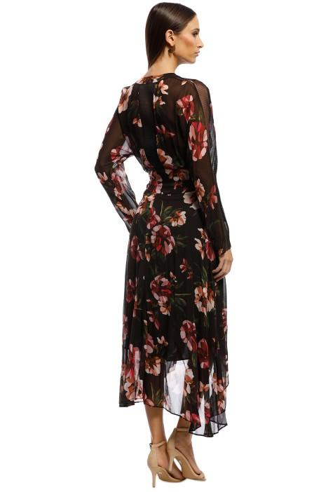c0029e0cf52 Ginger   Smart - Fragment Wrap Dress - Burgundy - Back