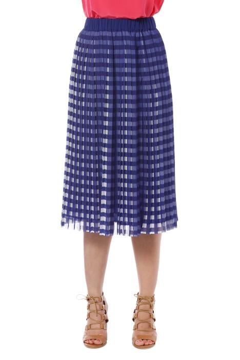 ca8c89f77c Gorman - Kinetic Pleat Skirt - Blue - Front Crop