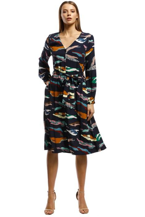 Gorman - Tora Dress - Blue print - Front