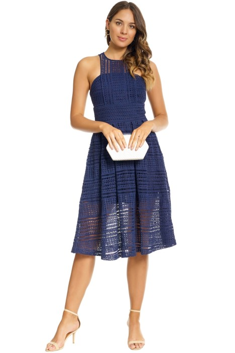 Grace and Hart - Allure Floaty Dress - Navy - Front