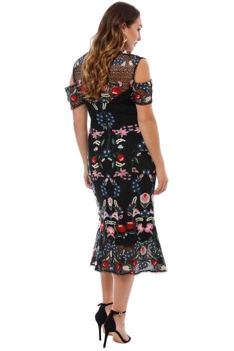 dcb6f340d481 Grace and Hart - Cavalier Cold Shoulder Dress - Black - Back