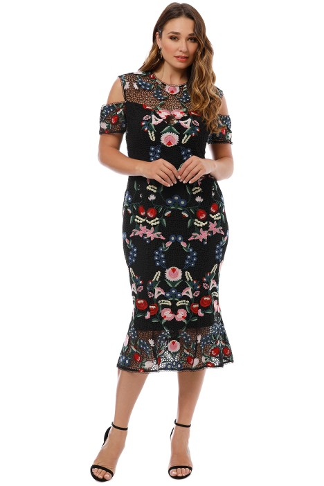 684ec29bc6f6 Grace and Hart - Cavalier Cold Shoulder Dress - Black - Front