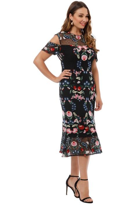 56a22c2f4b97 Grace and Hart - Cavalier Cold Shoulder Dress - Black - Side