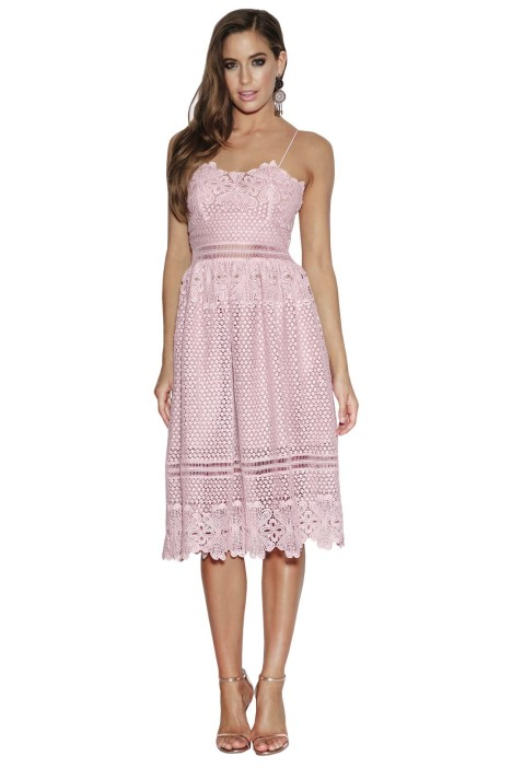 Grace & Hart - Frilling Around Flare Midi - Lilac - Front