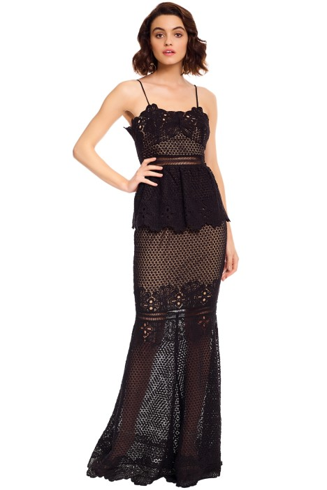 Grace and Hart - Frilling Around Gown - Black - Front