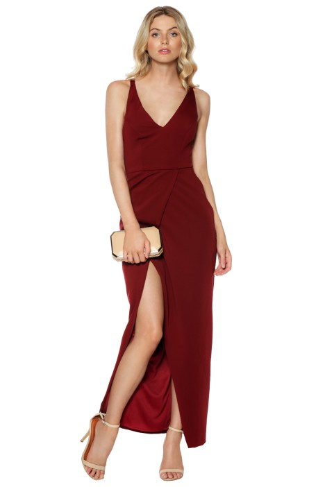Gold Rush Neon Gown In Wine Red By Grace U0026 Hart For Hire