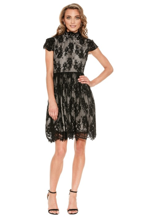 Grace and Hart - Lacy Shadow Dress - Black - Front