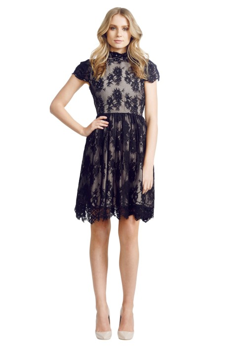 Grace and Hart - Lacy Shadow Dress - Front - Black