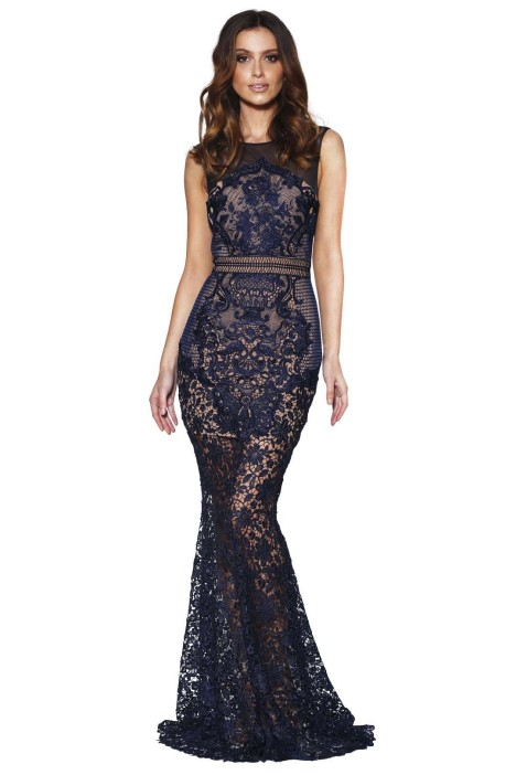 Grace and Hart - Renaissance Gown - Navy - Front