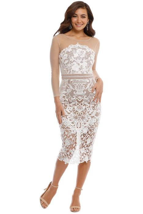 Grace and Hart - Renaissance Midi Dress - White - Front
