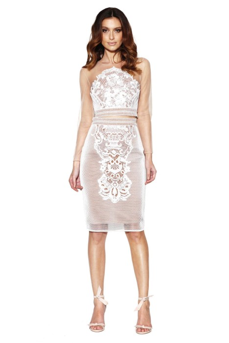 Grace and Hart - Renaissance Top and Skirt Set - White - Front