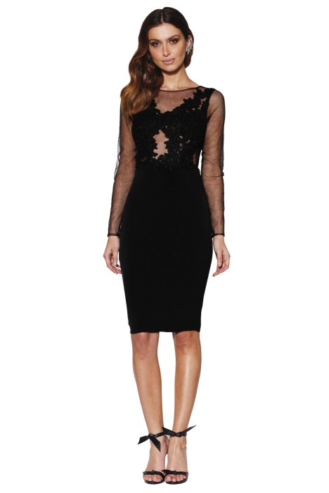Grace and Hart - Starlet Fitted Dress - Black - Front