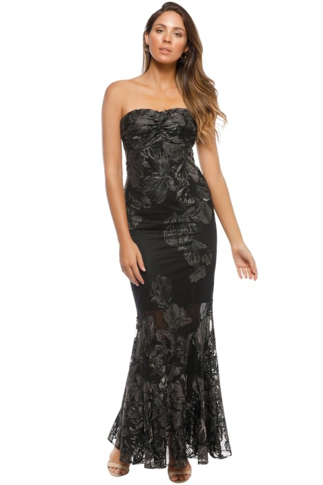 Grace and Hart - Summer Glow Fitted Gown - Black - Front