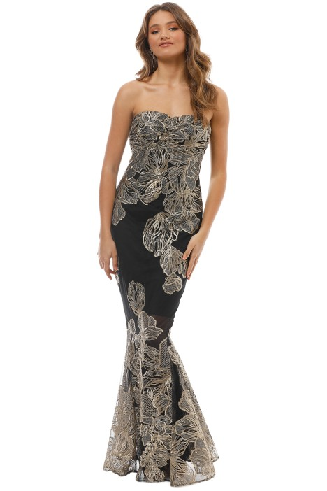 Grace and Hart - Summer Glow Fitted Gown - Gold - Front