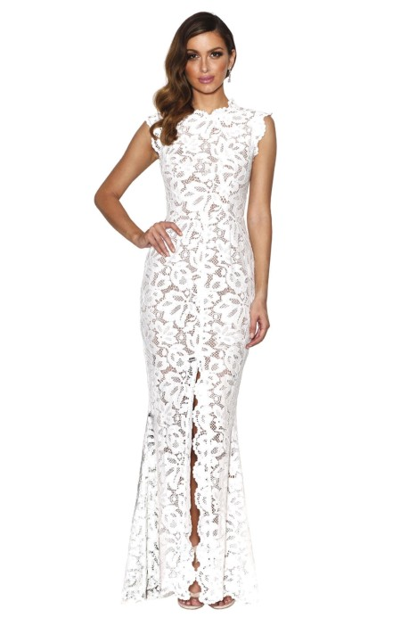 Valentine Gown in Ivory by Grace & Hart for Rent | GlamCorner