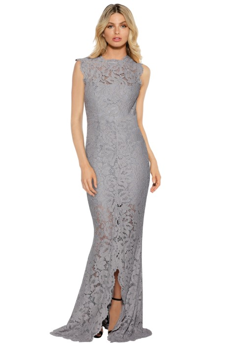 Grace and Hart - Valentine Gown - Silver - Front
