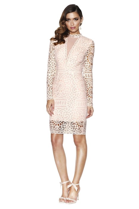 Grace and Hart - Waiver Fitted Midi Dress - Pink - Front