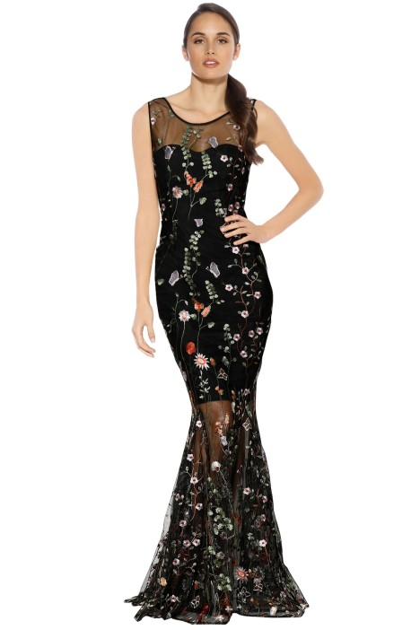 Grace and Hart - Wu You Fitted Gown - Fantasy Black - Front