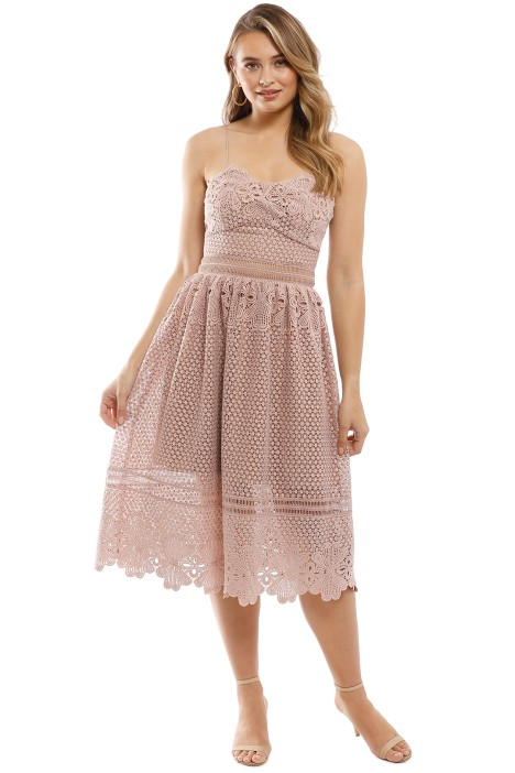 Grace & Hart - Frilling Around Flare Midi - Nude - Front