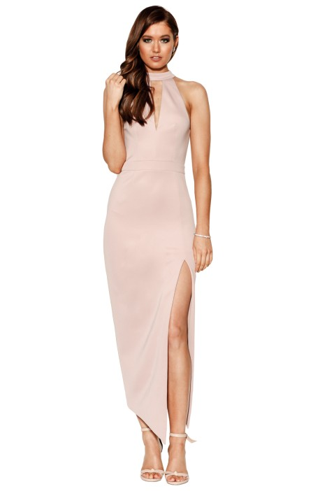 Grace and Hart - Charm Fitted Midi Dress - Faded Mauve -  Front