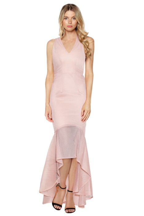 Grace & Hart - Cherry on Top Gown In Blush Pink - Front