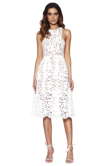 Grace & Hart - Embrace Floaty Midi - White - Front