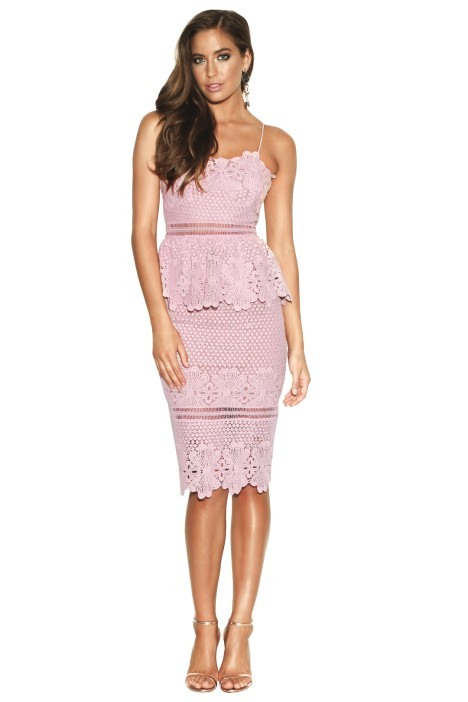 Grace and Hart - Frilling Around Fitted Midi - Lilac - Front