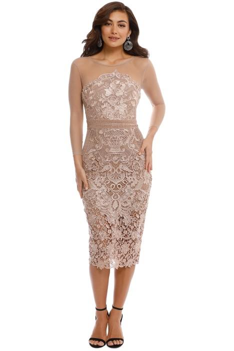 Grace and Hart - Renaissance Midi Dress - Blush - Front