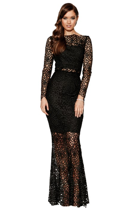 Grace & Hart - Scandal Gown - Black - Front