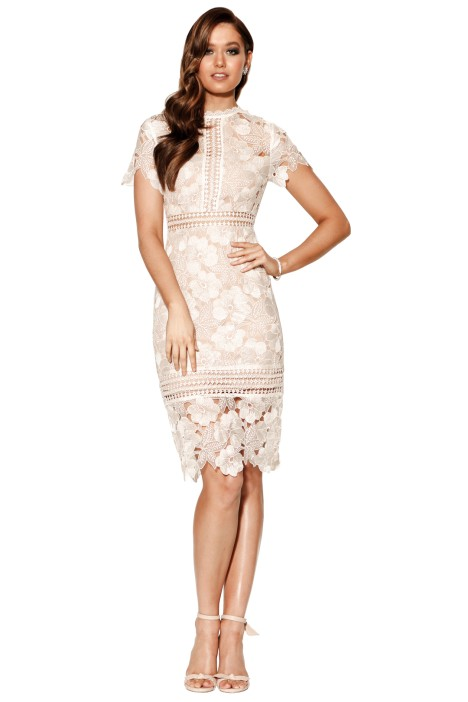 Grace & Hart - Serene Fitted Midi - Ivory - Front