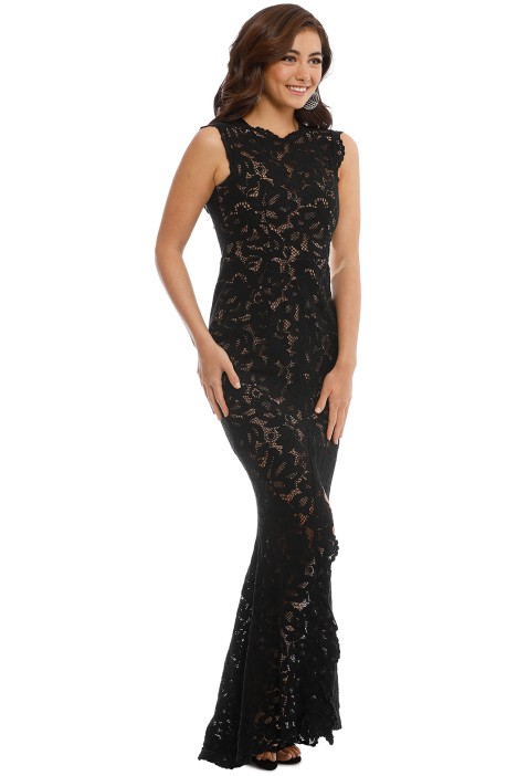 Valentine Gown in Black by Grace & Hart for Hire | GlamCorner