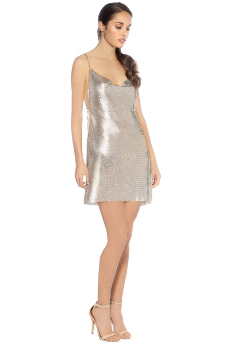 Hours - Willa Slip Dress - Silver - Front