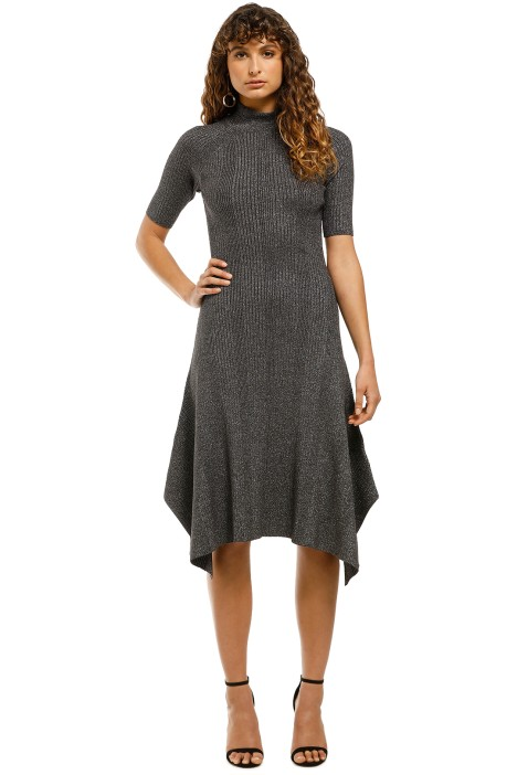 Husk-Glitter-Knit-Dress-Grey-Front