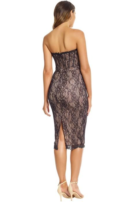 5d198fe695 Jadore - Emilie Corset Dress - Black Nude - Back